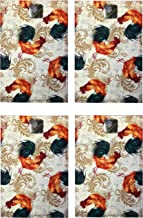 Luxury Home Fashion 100% Polyester Place Mats Set of 4 for Dining Table, Durable and Elegant Kitchen Table Mats Place Mats (18 X 12) (Rooster)