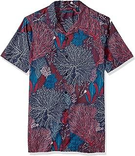 Men's Big and Tall Short Sleeve Camp-Collar Shirt