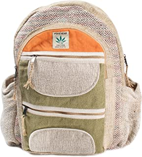 Maha Bodhi All Natural Handmade Multi Pocket Laptop Backpack - Himalayan Hemp
