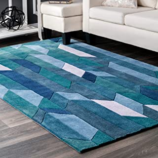 Best contemporary area rugs blue Reviews