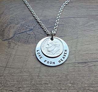 Love from Heaven Stainless Steel Dime Necklace