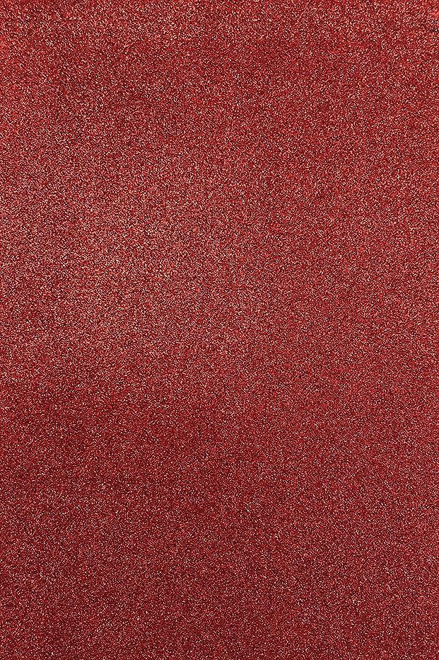 Allgala 12 Pack Glitter EVA Foam Paper 8 x 12inch Sheets-Red-CF85003