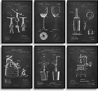 MONOKO® Lot de 6 affiches brevetées pour salle à manger - Décoration murale élégante pour salle à manger - Sans cadre (set...