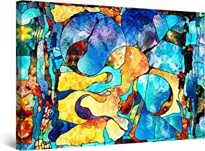 Startonight Canvas Wall Art Abstract - Abstract FACE Angelique Painting - Large Artwork Print for Living Room 32 x 48 Inches