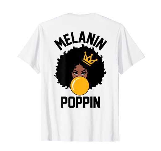 bf0015f9c Image Unavailable. Image not available for. Color: Melanin Poppin Afro Girl  Black Girl Magic T-Shirt