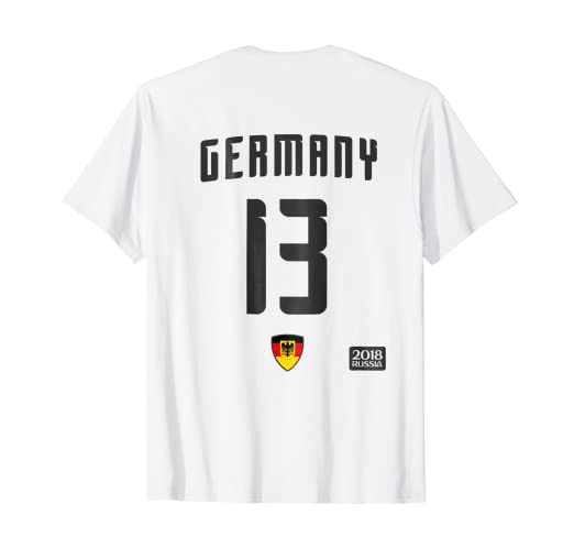 f04a4dcf3 Image Unavailable. Image not available for. Color: Germany 13 White Soccer T -Shirt - Football 2018 Team Jersey