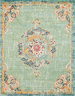 Unique Loom Penrose Collection Traditional Vintage Distressed Green Area Rug (8' 0 x 10' 0)
