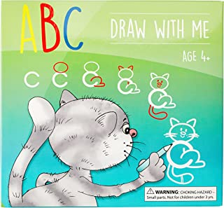 ABC Draw With Me | Wipe Clean Alphabet Flash Cards | Great Birthday Gift Present For Girls Boys Age 3 4 5 6 7 Years Old | Art and Craft |