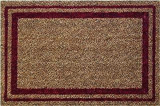 ID Mat 406004 Coconut Fibre/PVC Bordered Doormat 60x 40x 1.5 cm, Natural/Red