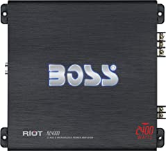 BOSS Audio Systems R2400D Class D Car Amplifier - 2400 Watts, 1 Ohm Stable, Digital, Monoblock, Mosfet Power Supply, Great for Subwoofers