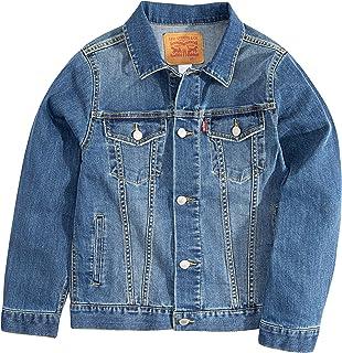 Levi's Boys' Little Denim Trucker Jacket, Washed Up, 4