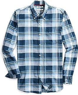 Amazon Brand - Goodthreads Men's Slim-Fit Long-Sleeve Lightweight Madras Plaid Shirt