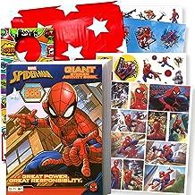 Spiderman Sticker Activity Set - Bundle Includes Spiderman Activity Book with 500 Spiderman Stickers, 3D Stickers, Superhero Door Hanger, in Bag