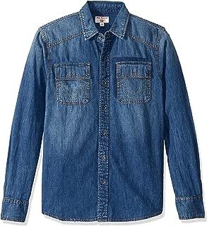 True Religion Men's Long Sleeve Utility Shirt