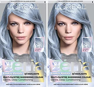 L'Oreal Paris Feria Pastels Hair Color, Sapphire Smoke, 2 Count