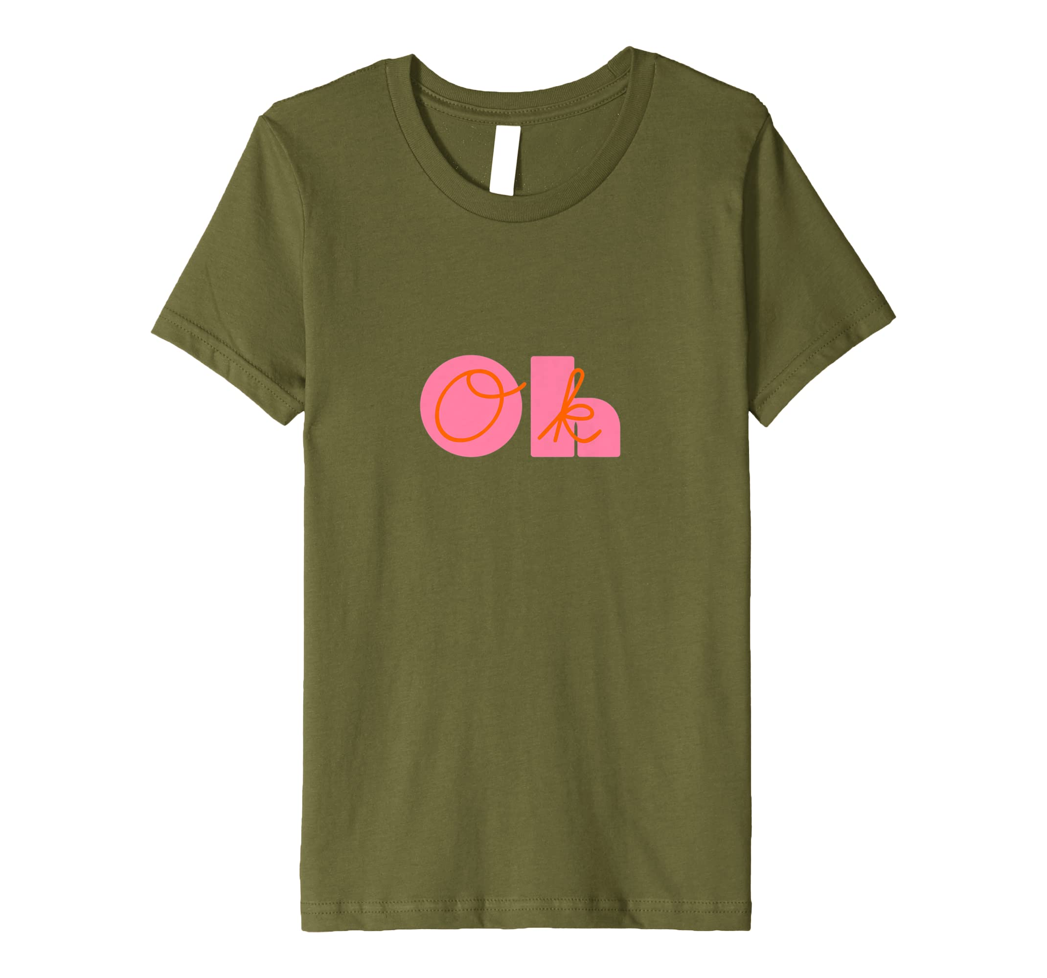 Amazon.com: Oh OK Funny Graphic Tee Slogan: Clothing