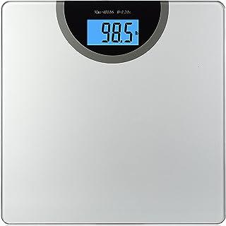 BalanceFrom Báscula de baño digital de peso corporal con tecnología Step-On y pantalla retroiluminada, 400 libras