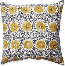 Pillow Perfect Riya Yellow Throw Pillow, 16.5-Inch