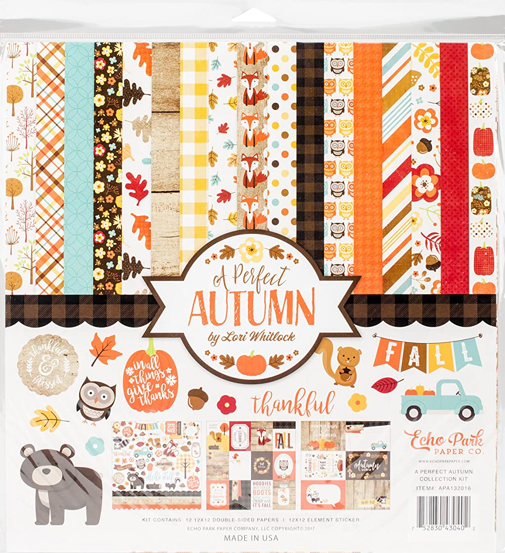 Echo Park Paper Company APA132016 A A Perfect Autumn Collection Kit