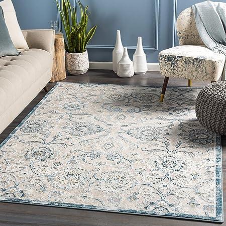 Amazon Com Artistic Weavers Tiesa Area Rug 2 X 3 Teal Furniture Decor