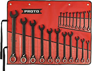 Stanley Proto JSCV-20S Proto 20-Piece Black Chrome Reversible Combination Ratcheting Wrench