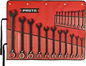 Stanley Proto JSCV-20S Proto 20-Piece Black Chrome Reversible Combination Ratcheting Wrench