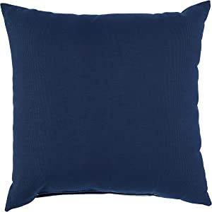 Rivet Mid-Century Outdoor Striped Throw Pillow - 17 x 17 Inch, Pacific