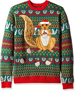 Men's Ugly Christmas Sweater Animals