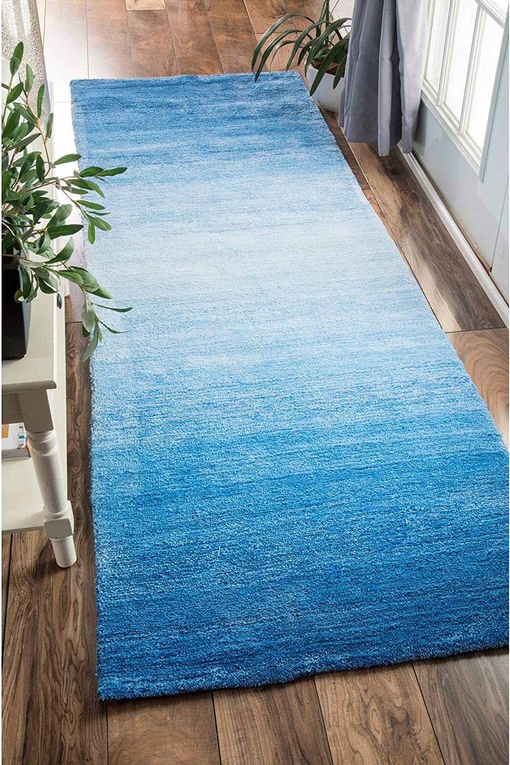 nuLOOM Bernetta San Antonio Mall Hand Tufted Ombre Cash special price Runner Blue Rug 2' x 8' 6
