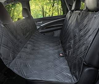 Dog Seat Cover for Any Size Car, Truck and SUV. Padded Hammock Design with Non-Slip Material, Waterproof, Scratch Proof, Machine Washable, with Backseat Removable Zipper Option by Parachute Products