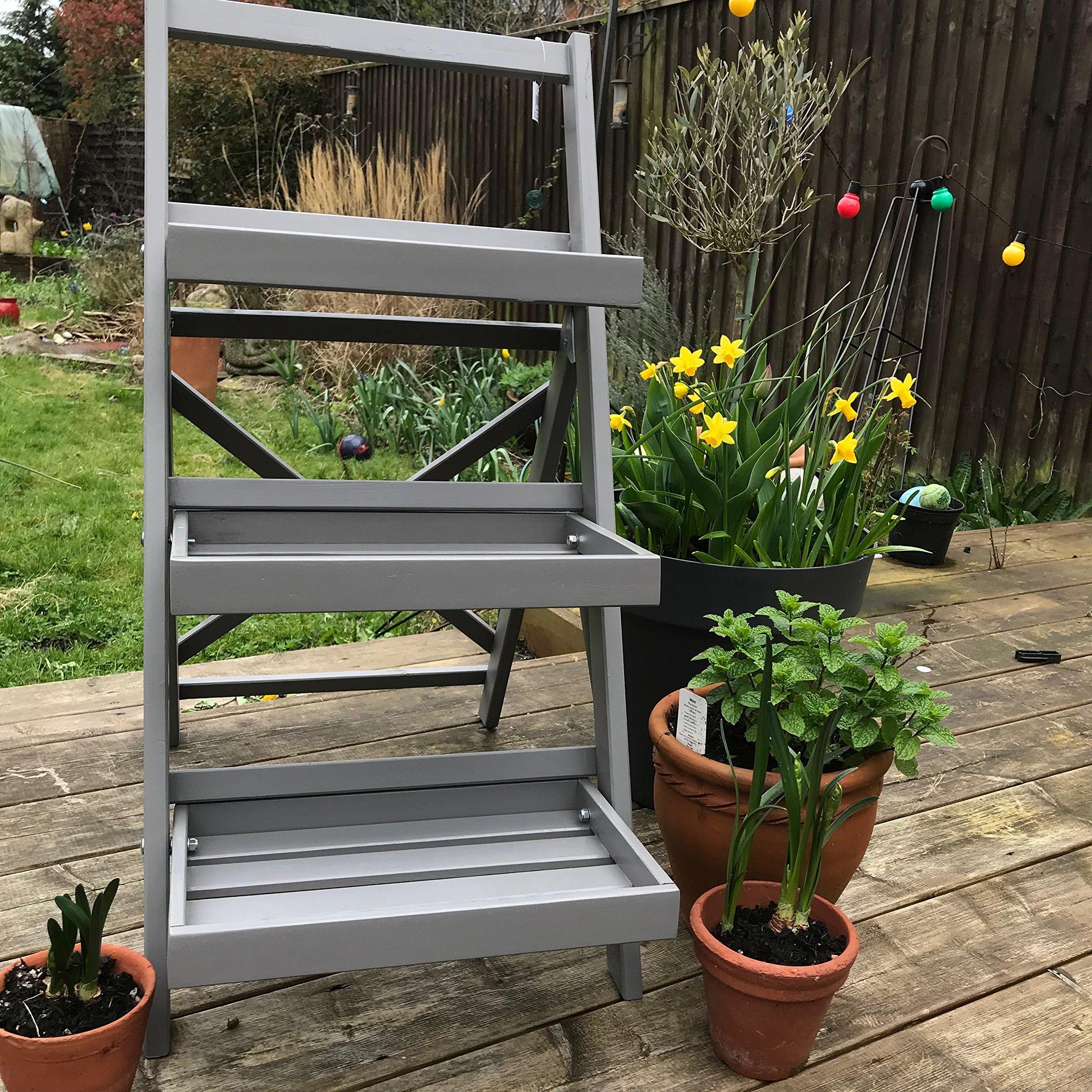 Tobs - Escalera para plantas, color gris toscano: Amazon.es: Jardín