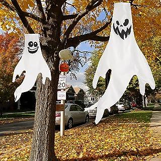 """Halloween Ghost Windsock 2 Sizes(43"""", 18""""), Halloween Hanging Decorations for Indoor Outdoor"""