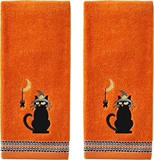 SKL Home by Saturday Knight Ltd. Black Cat & Spider Hand Towel Set, Orange
