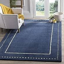 Safavieh Bella Collection BEL151G Handmade Navy Blue and Ivory Premium Wool Area Rug (8' x 10')