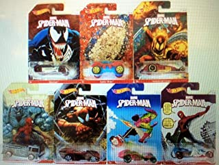 2014 Hot Wheels Spider Man set of 7: Ettorium, Spider Rider, Hammered Coupe, Fire Eater, Shredder, I-Candy and Street Creeper!!! All except for the Impossible to find #8!