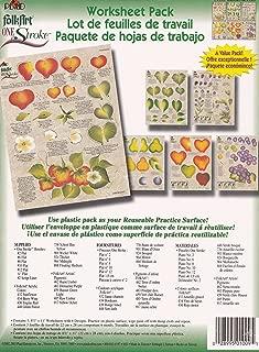 1009 Berries and Fruit One Stroke Reusable Painting Teaching Guide Worksheet Pack