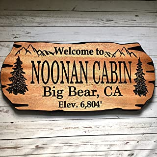 personalized cabin signs outdoor