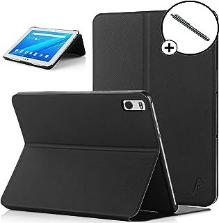 Forefront Cases Lenovo Tab 4 10 Plus/Lenovo Tab4 10 Plus Funda Carcasa Stand Smart Case Cover – Ultra Delgado Protección Completa Dispositivo con Función Auto Sueño Estela + Lápiz óptico (Negro)