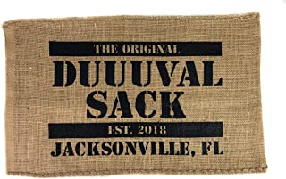 The Original Duuuval Sack | Jacksonville Florida Home The Jaguars | Welcome to Sacksonville | Gameday Tailgate Rally Towel Wall Art Home Decor Flag Perfect Office Man Cave Garage Living Room