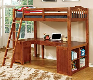 Furniture of America Lavinia Bed + Work Station, 41.625