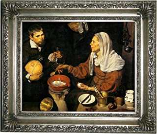 Historic Art Gallery an Old Woman Frying Eggs 1618 by Diego Velazquez 8
