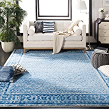 Safavieh Adirondack Collection ADR110D Silver and Blue Vintage Distressed Area Rug (5'1