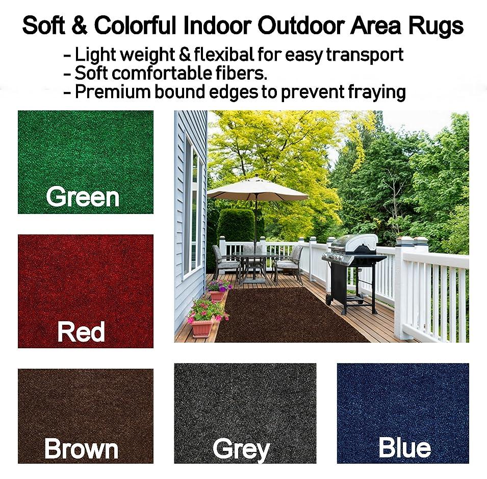降臨風刺一般的なソフト&カラフル軽量indoor-outdoorエリアラグwithプレミアムエッジバインドされます。Perfect forバルコニー、デッキ、ガゼボ、パティオ芝生、trade-show、ブース、など。(多くの色とサイズを選択) 5' x 8' ブラック BNDnatChoiceBlack5x8