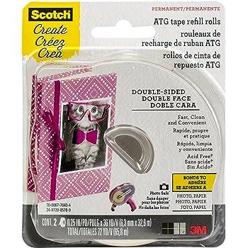 Scotch Brand 085-RAF Scotch Advanced Tape Glider Refill, 1/4 inch x 36 Yards, 1/4-Inch by 36-Yard, Multicolor