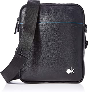 Calvin Klein Logo Pouch Mens Cross Body Bag Black