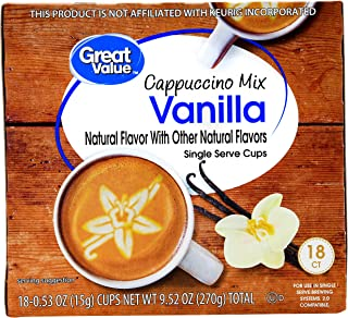 Great Value Vanilla Cappuccino Mix Single Serve Cups 9.52oz