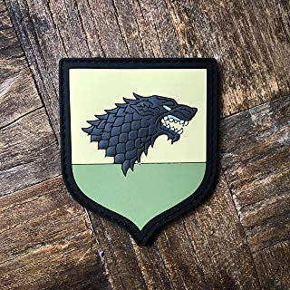 NEO Tactical Gear Game of Thrones House of Stark PVC Rubber Morale Patch – Hook Backed with Loop Attachment Piece That Can Be Sewn On by NEO Tactical