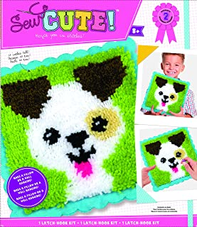 Colorbok Sew Cute Emoji Heart Eyes Latch Hook Kit