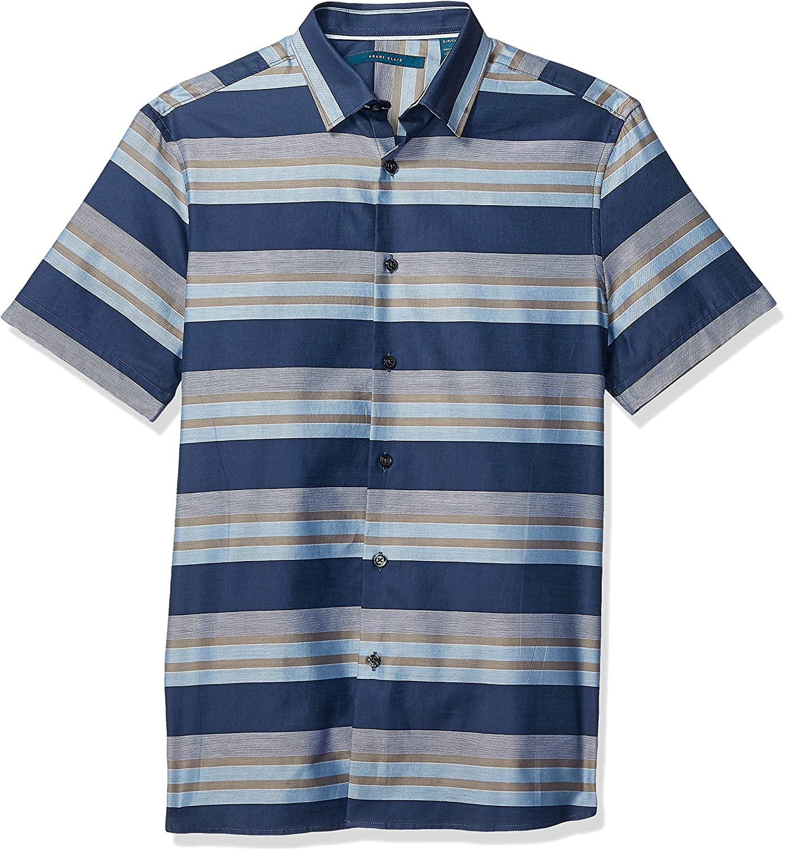 Perry Ellis Men's Multi Stripe Shirt