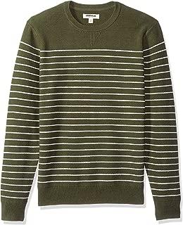 Amazon Brand - Goodthreads Men's Soft Cotton Striped Crewneck Sweater